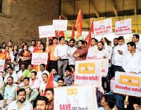 Parents, Yuva Sena protest over snapping of internal marks of SSC Board Exam