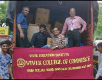 KOLHAPUR FLOOD RELIEF – VIVEK COLLEGE STUDENTS IN SUPPORT OF FLOOD VICTIMS